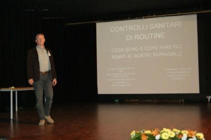 Alessandro Melillo en las IX Jornadas sobre Cuidados y Conservación de Loros